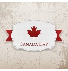 Canada day emblem with ribbon vector