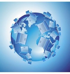 Computer world concept vector image