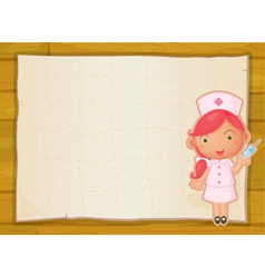 a girl and paper sheet vector image vector image