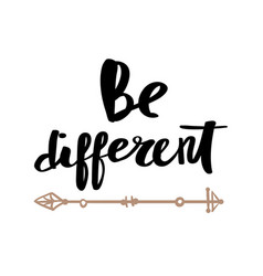 be different lettering for poster vector image vector image