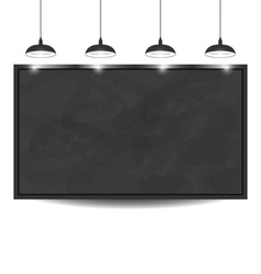Black chalkboard background eps 10 vector image