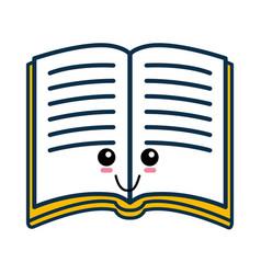 Book cute cartoon vector