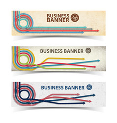 business horizontal banners collection vector image