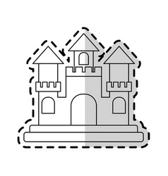 Castle cartoon icon image vector