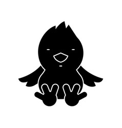 chick icon black sign on vector image vector image