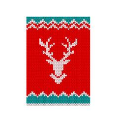 Christmas poster reindeer vector