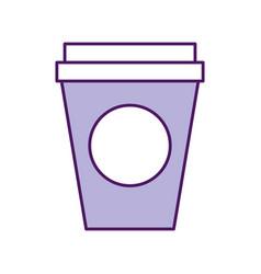 coffee plastic cup icon vector image