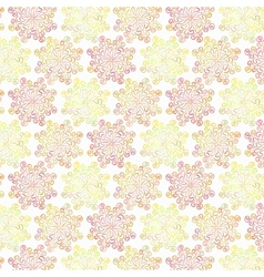 Colorful circular floral pattern on white vector image vector image