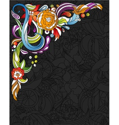 colorful floral corner vector image vector image