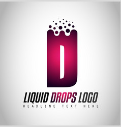 creative liquid drops letter logo design for vector image