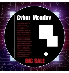 Cyber monday banner vector