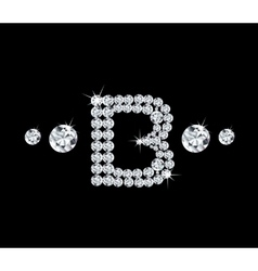 Diamond alphabetic letter B vector image vector image
