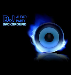 Dj party background vector