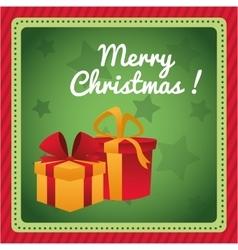 Gifts of christmas season design vector