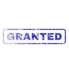 Granted rubber stamp vector
