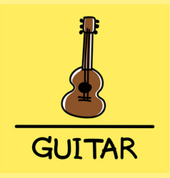 Guitar hand-drawn style vector