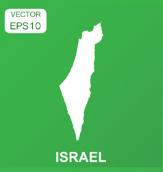 Israel map icon business concept israel pictogram vector