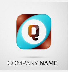 letter q logo symbol in the colorful square on vector image vector image