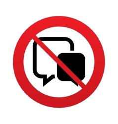 No chat sign icon speech bubbles symbol vector