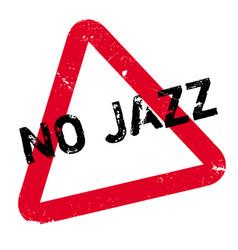 No jazz rubber stamp vector