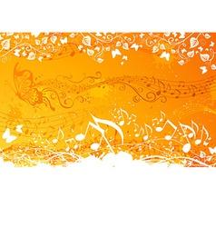 Orange music background vector image