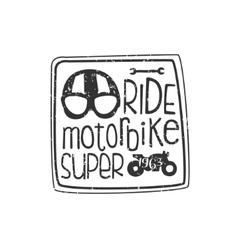 Ride motorbike vintage emblem vector