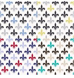 seamless fleur de lis pattern vector image vector image