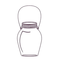 silhouette glass jar decorative with handle vector image vector image