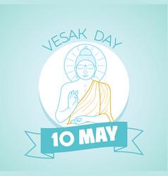 10 may vesak day vector image
