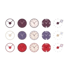 Set of modern wall clocks vector