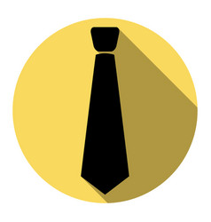 Tie sign   flat black icon vector
