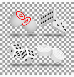 realistic game icons vector image