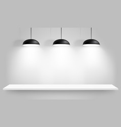 Black ceiling lamps vector
