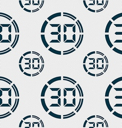 30 second stopwatch icon sign seamless pattern vector