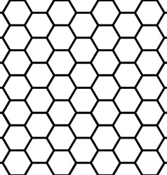 Seamless black honeycomb pattern over white vector