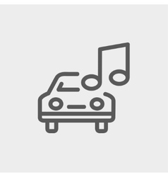 Car with music thin line icon vector