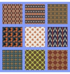Oriental seamless pattern set vector