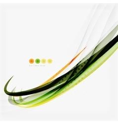 Orange and green wave line design nature eco vector image