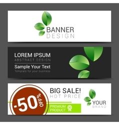 Set of banners sale typography background vector