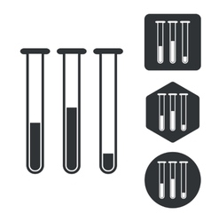 Test-tubes icon set monochrome vector