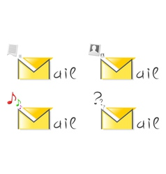 Email attachment icons vector