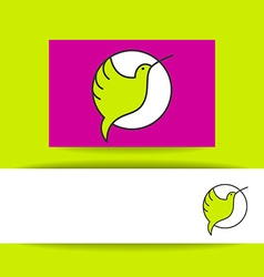 Colibri bird sign vector