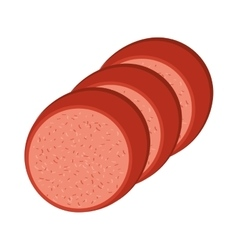 Sausage butchery isolated icon design vector