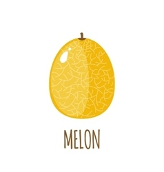 Melon icon in flat style on white background vector