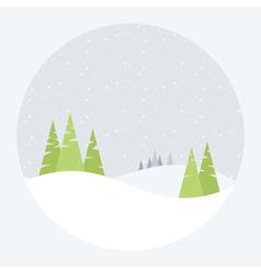 a winter landscape vector image vector image
