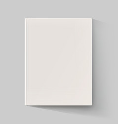 Blank book cover with long shadow vector image