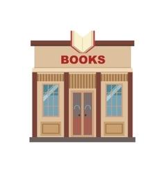 Book shop commercial building facade design vector