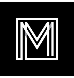 Capital letter m monogram logo emblem vector