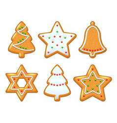 Christmas cookies set vector image vector image
