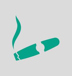 Cigar icon vector